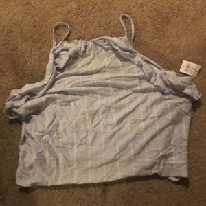 American Eagle size large crop tank with fringe